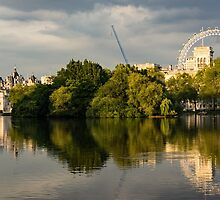 Sunlit Landmarks - St James's Park Lake Reflections in London UK by Georgia Mizuleva