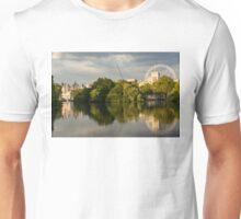 Sunlit Landmarks - St James's Park Lake Reflections in London UK Unisex T-Shirt