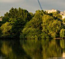 Sunlit Landmarks - St James's Park Lake Reflections in London UK Sticker