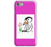 Penguin & flower iPhone Case/Skin