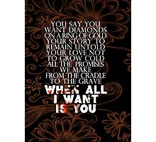 u2 all I want is you version 2 Photographic Print
