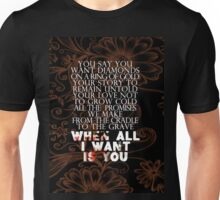 u2 all I want is you version 2 Unisex T-Shirt