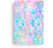 Pink pastel aztec pattern Canvas Print