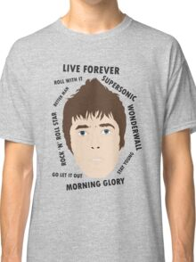 Liam Gallagher Oasis Beady Eye Fan Art Unofficial Live Forever  Classic T-Shirt