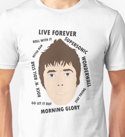 Liam Gallagher Oasis Beady Eye Fan Art Unofficial Live Forever  Unisex T-Shirt