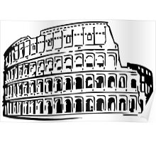 Roman Colosseum, Drawing Poster