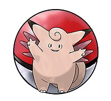 Clefable pokeball - pokemon Photographic Print