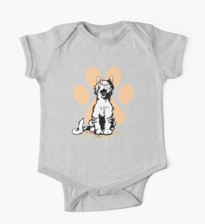 Happy Cat with paw print One Piece - Short Sleeve