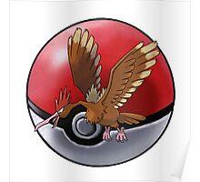 Fearow pokeball - pokemon Poster