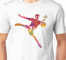 man soccer football player 08 Unisex T-Shirt
