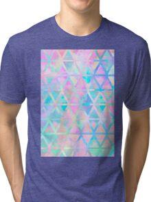 Pink pastel aztec pattern Tri-blend T-Shirt