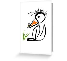 Penguin & bee Greeting Card