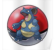 Nidoqueen pokeball - pokemon Poster