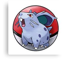 Nidoran (female) pokeball - pokemon Canvas Print