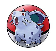 Nidoran (female) pokeball - pokemon Photographic Print
