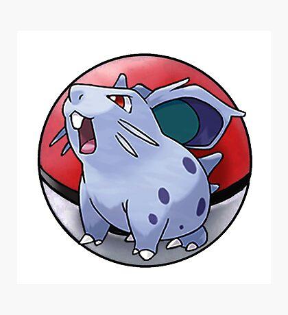 Nidoran (female) pokeball - pokemon Photographic Print