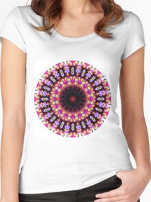 color wishes mandala Women's Fitted Scoop T-Shirt