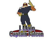 I Main Captain Falcon - Super Smash Bros Melee Photographic Print
