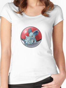 Nidorina pokeball - pokemon Women's Fitted Scoop T-Shirt