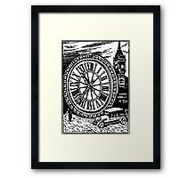 The Size of BIG BEN (Clock to Car Comparison) Framed Print