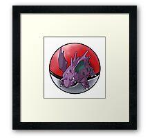 Nidorino pokeball - pokemon Framed Print