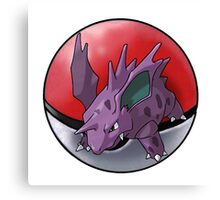 Nidorino pokeball - pokemon Canvas Print