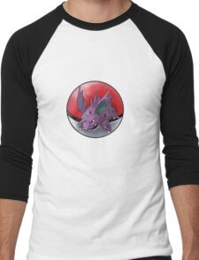 Nidorino pokeball - pokemon Men's Baseball ¾ T-Shirt