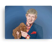 Martin Freeman with Puppy Metal Print
