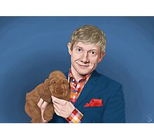 Martin Freeman with Puppy Photographic Print