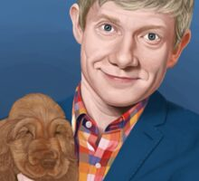 Martin Freeman with Puppy Sticker