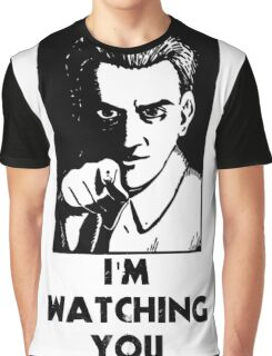 """""""I'm Watching You"""" Quote, Creepy Man Graphic T-Shirt"""