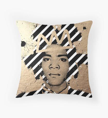 Gold Basquiat Throw Pillow