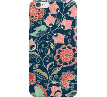 colorful floral pattern in doodle style  iPhone Case/Skin