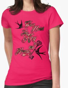 Key to my heart Dictionary Art Womens Fitted T-Shirt
