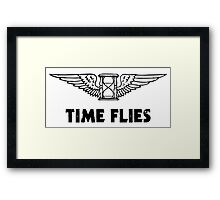 Time Flies (Flying Hourglass) Framed Print