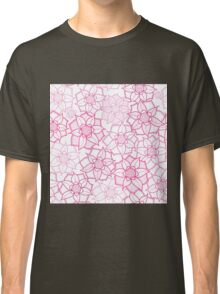 Pink floral pattern in doodle style Classic T-Shirt