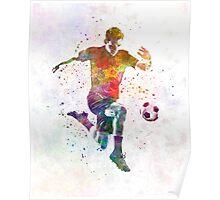 man soccer football player 09 Poster
