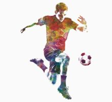 man soccer football player 09 Kids Clothes