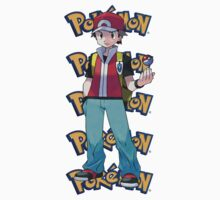 Red show pokeball - pokemon Kids Clothes
