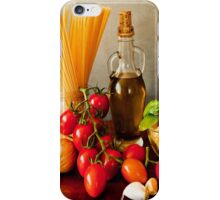 Italian pasta, arrabbiata sauce recipe iPhone Case/Skin