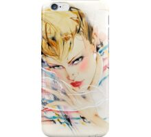 Eighties Fashion Illustration by Anne Zielinski-Old iPhone Case/Skin