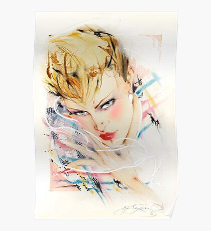 Eighties Fashion Illustration by Anne Zielinski-Old Poster