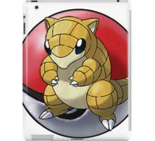 Sandshrew pokeball - pokemon iPad Case/Skin