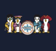 Sgt Poppers Penguin Marching Band Kids Tee