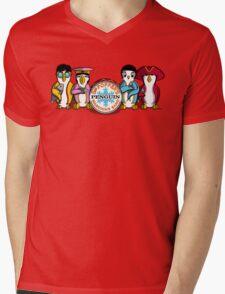 Sgt Poppers Penguin Marching Band Mens V-Neck T-Shirt