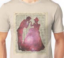 Prince and Princess Valentine Fairytale Space Stencil Unisex T-Shirt