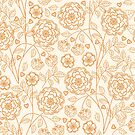 floral pattern in doodle style by Nataliia-Ku
