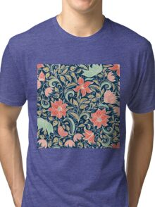 colorful floral pattern in doodle style  Tri-blend T-Shirt