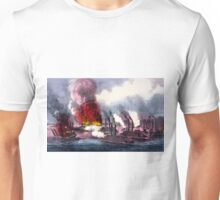 Brilliant naval victory on the Mississippi River - 1862 - Currier & Ives Unisex T-Shirt