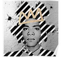 Silver Basquiat Poster